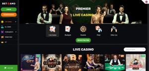 Screenshot Live Casino Betamo Casino