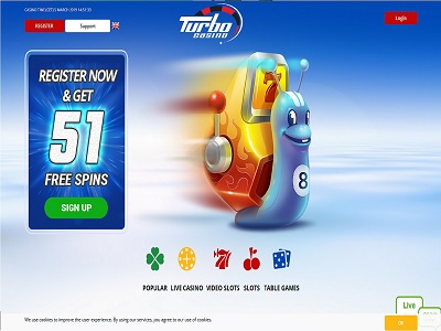 turbo casino homepage