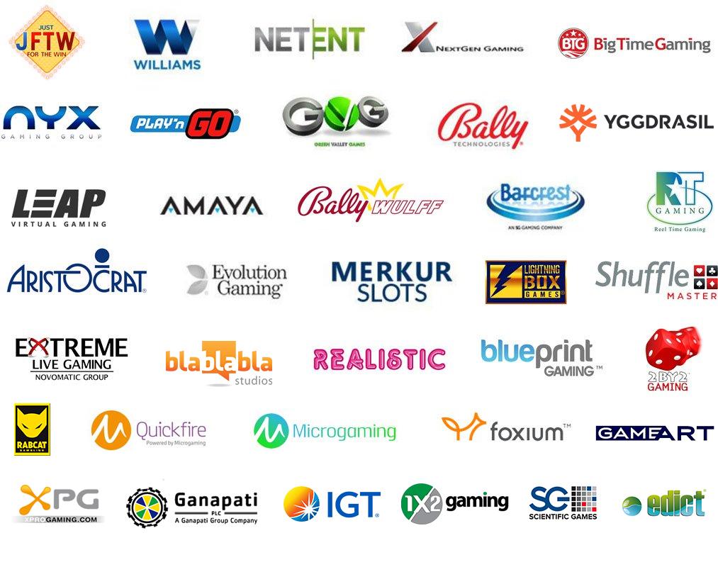 verschillende casino software ontwikkelaars