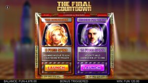 Screenshot The Final Countdown Videoslot Big Time Gaming 2