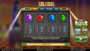 Screenshot The Final Countdown Videoslot Big Time Gaming 6