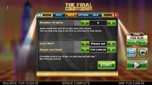 Screenshot The Final Countdown Videoslot Big Time Gaming 7