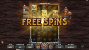 screenshot dwarf mine freespins mode