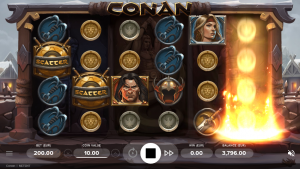 Screenshot Gameplay conan videoslot