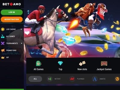 betamo casino screenshot homepagina