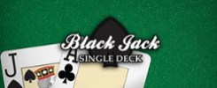 afbeelding single deck blackjack
